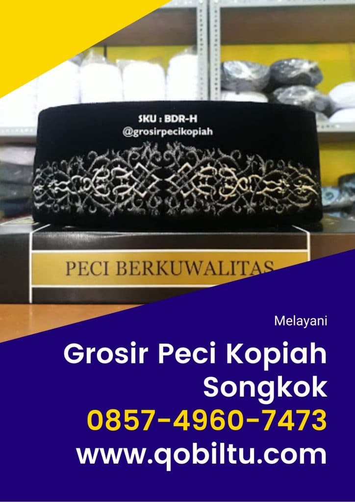 pusat Toko Grosir Peci Kopiah Songkok di Purbalingga Terlengkap